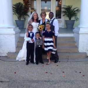 children in wedding, lgbtq wedding, two brides